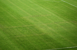 12.06.2015, Stadion Poljud, Split, CRO, UEFA Euro 2016 Qualifikation, Kroatien vs Italien, Gruppe H, im Bild The sign of the Third Reich swastika was drawn on the grass in the Poljud stadium // during the UEFA EURO 2016 qualifier group H match between Croatia and and Italy at the Stadion Poljud in Split, Croatia on 2015/06/12. EXPA Pictures © 2015, PhotoCredit: EXPA/ Pixsell/ Igor Kralj<br /> <br /> *****ATTENTION - for AUT, SLO, SUI, SWE, ITA, FRA only*****