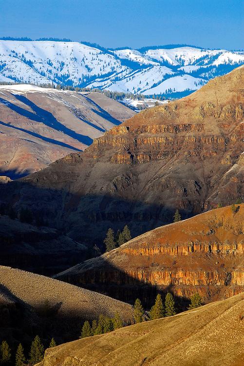 Grande Ronde River canyon below the Blue Mountains, Oregon.