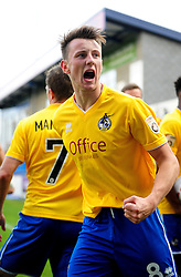 Bristol Rovers' Ollie Clarke celebrates his goal - Photo mandatory by-line: Neil Brookman/JMP - Mobile: 07966 386802 - 01/11/2014 - SPORT - Football - Telford - New Bucks Head Stadium - AFC Telford v Bristol Rovers - Vanarama Football Conference