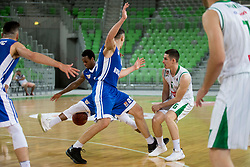 Jan Span of KK Petrol Olimpija Ljubljana during basketball match between KK Petrol Olimpija and KK Rogaska in 1st Semifinal match of Liga Nova KBM 2017/18, on May 9, 2018, in Arena Stozice, Ljubljana, Slovenia. Photo by Urban Urbanc / Sportida
