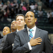 UNCW Men's Basketball Head Coach Kevin Keatts is pictured before their game against St. Andrews Wednesday December 3, 2014 at Trask Coliseum in Wilmington, N.C. (Jason A. Frizzelle)