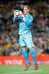 30.05.2015, Camp Nou, Barcelona, ESP, Copa del Rey, Athletic Club Bilbao vs FC Barcelona, Finale, im Bild FC Barcelona's Marc-Andre Ter Stegen // during the final match of spanish king's cup between Athletic Club Bilbao and Barcelona FC at Camp Nou in Barcelona, Spain on 2015/05/30. EXPA Pictures &copy; 2015, PhotoCredit: EXPA/ Alterphotos/ Acero<br /> <br /> *****ATTENTION - OUT of ESP, SUI*****