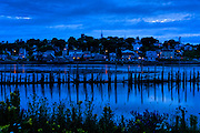 Luback Maine in the blue hour as seen from Campobello Island