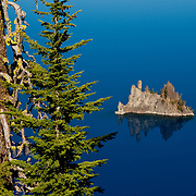 Ghost Ship Island in Crater Lake National Park.