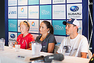 Emma Moffatt (AUS). Pre Race Press Conference. 2013 Noosa Triathlon Festival. Cairns, Queensland, Australia. 01/11/2013. Photo By Lucas Wroe