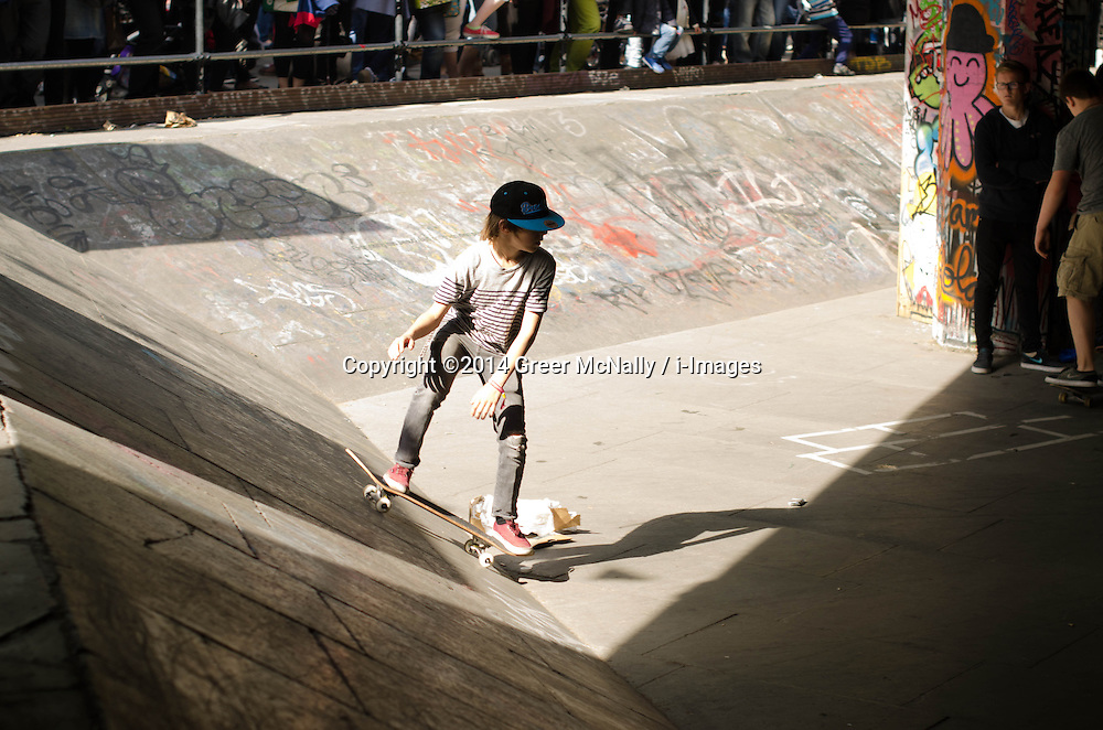Skaters of all ages gathered on the Southbank this bank holiday to celebrate a year or resistance