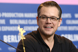 61034787<br /> Matt Damon during the The Monuments Men press conference at the 64th Berlin International Film Festival / Berlinale 2014 in Berlin, Germany, Saturday, February 8, 2014 2014. Picture by  imago / i-Images<br /> UK ONLY