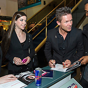 Felix Baumgartner signs autographs at The Smithsonian National Air and Space Museum in Washington, D.C., USA on 1 April, 2014.