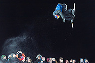 Oslo, Norway. 26th February, 2016<br /> <br /> The 2016 Winter X Games arrived in Oslo this year, bringing athletes from all around the world to the Norwegian city. The event focuses on winter sports, such as skiing and snowboarding.<br /> <br /> Pictured competing in the Men's SuperPipe final at Wylland is David Habluetzel, who finished fourth.<br /> <br /> Matthew James / Alamy Live News