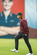 Tommy Fleetwood of England steps up to take his put on the 18th during the British Masters 2018 at Walton Heath Golf Course, Walton On the Hill, Surrey  on 11 October 2018. Picture by Martin Cole.