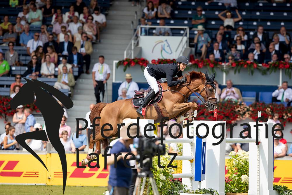 STAUT Kevin (FRA), Reveur de Hurtebise HDC<br /> Aachen - CHIO 2018<br /> Preis von Nordrhein-Westfalen<br /> 20. Juli 2018<br /> © www.sportfotos-lafrentz.de/Stefan Lafrentz