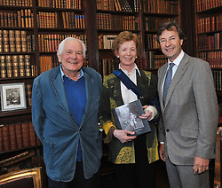 Jeremy Altamount pictured with Mary Robinson and Tim Knatchbull at Westport House on friday evening at the launch of Lord Altamount's memoir 'A Life at Westport House 50 Years A Going'.<br /> Pic Conor McKeown