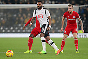 Derby County forward Darren Bent on the ball during the EFL Sky Bet Championship match between Derby County and Cardiff City at Pride Park Stadium, Derby, England on 14 February 2017. Photo by Aaron  Lupton.