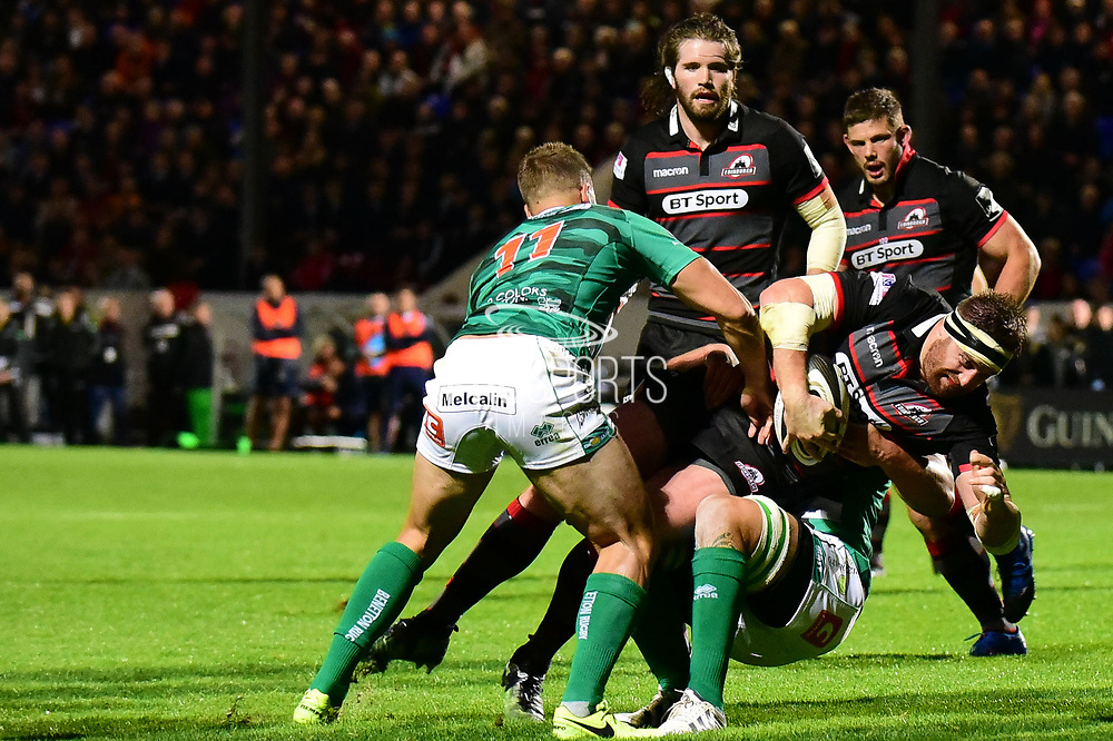 Edinburgh held a modest lead at half time in the Guinness Pro 14 2017_18 match between Edinburgh Rugby and Benetton Treviso at Myreside Stadium, Edinburgh, Scotland on 15 September 2017. Photo by Kevin Murray.