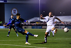 Tom Nichols of Bristol Rovers has a shot on goal - Mandatory by-line: Ryan Hiscott/JMP - 19/11/2019 - FOOTBALL - Hayes Lane - Bromley, England - Bromley v Bristol Rovers - Emirates FA Cup first round replay