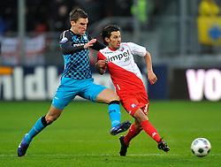 22-01-2012 VOETBAL: FC UTRECHT - PSV: UTRECHT<br /> Utrecht speelt gelijk tegen PSV 1-1 / Kevin Strootman, Stefano Lilipaly<br /> ©2012-FotoHoogendoorn.nl