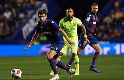 January 10, 2019 - Valencia, Valencia, Spain - Prcic of Levante UD during the Spanish Copa del Rey match between Levante and Barcelona at Ciutat de Valencia Stadium on Jenuary 10, 2019 in Valencia, Spain. (Credit Image: © Maria Jose Segovia/NurPhoto via ZUMA Press)