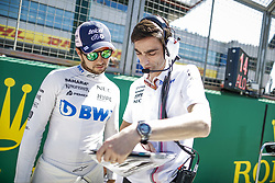 July 8, 2018 - Silverstone, Great Britain - Motorsports: FIA Formula One World Championship 2018, Grand Prix of Great Britain, .#11 Sergio Perez (MEX, Sahara Force India F1 Team) (Credit Image: © Hoch Zwei via ZUMA Wire)
