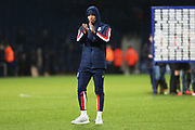 Tyrese Campbell claps the Stoke fans during the EFL Sky Bet Championship match between West Bromwich Albion and Stoke City at The Hawthorns, West Bromwich, England on 20 January 2020.