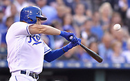 June 30, 2017 - Kansas City, MO, USA - The Kansas City Royals' Eric Hosmer connects on a three-run home run in the fourth inning against the Minnesota Twins at Kauffman Stadium in Kansas City, Mo., on Friday, June 30, 2017. (Credit Image: © John Sleezer/TNS via ZUMA Wire)