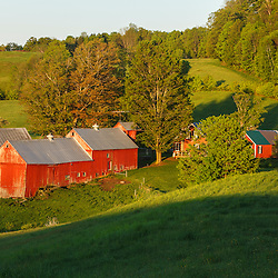 The classic view of the Jenne Farm in South Woodstock, Vermont.