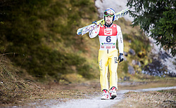 19.12.2014, Nordische Arena, Ramsau, AUT, FIS Nordische Kombination Weltcup, Skisprung, Training, im Bild Alessandro Pittin (ITA) // during Ski Jumping of FIS Nordic Combined World Cup, at the Nordic Arena in Ramsau, Austria on 2014/12/19. EXPA Pictures © 2014, EXPA/ JFK