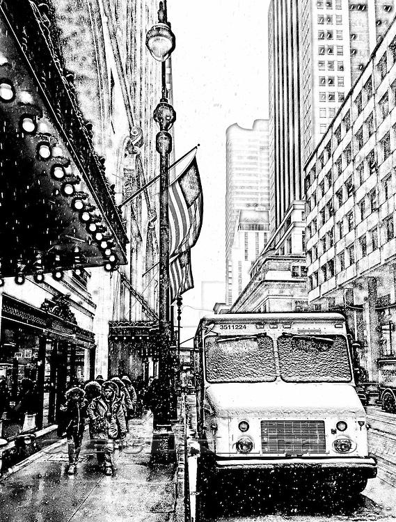 Winter in New York City.