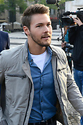 Opnamen van The Bold &amp; The Beautiful op de dam in Amsterdam. / On the set of The Bold &amp; The Beautiful at the dam in Amsterdam.<br /> <br /> Op de foto / On the photo:  Scott Clifton