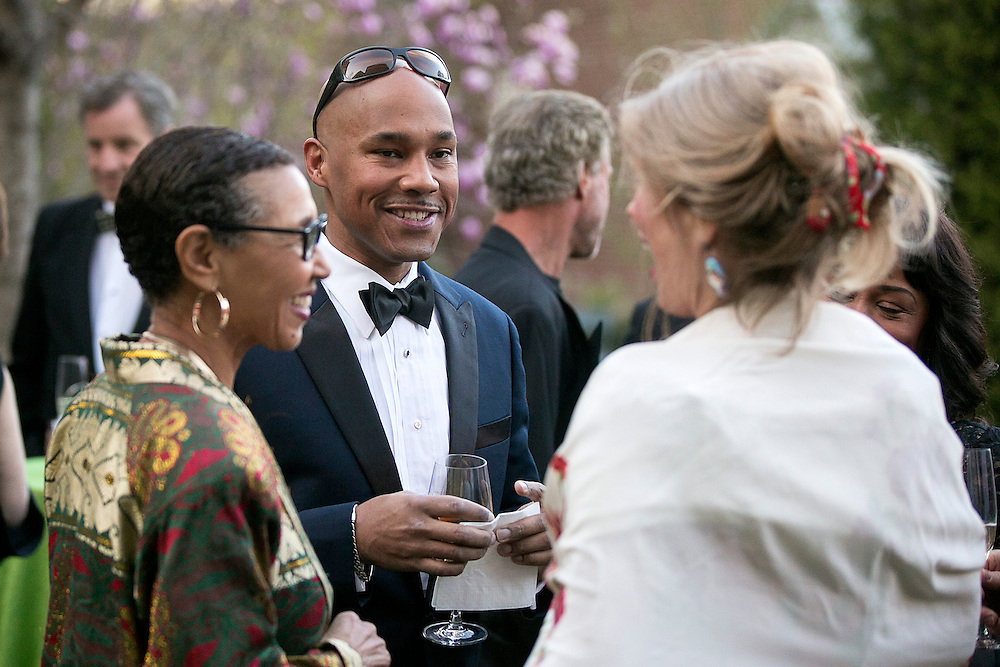 May 2, 2015, Boston, MA:<br /> Guests attend the 2015 Gardner Gala at the Isabella Stewart Gardner Museum in Boston, Massachusetts Saturday, May 2, 2015.<br /> (Photos by Billie Weiss/Isabella Stewart Gardner Museum)