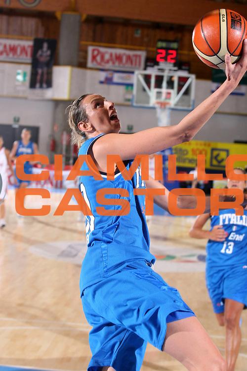 DESCRIZIONE : Bormio Torneo Preparazione Europei Nazionale Femminile 2007 Italia Bulgaria <br /> GIOCATORE : Laura Macchi <br /> SQUADRA : Nazionale Italia Femminile <br /> EVENTO : Torneo Preparazione Europei Nazionale Femminile 2007 <br /> GARA : Italia Bulgaria <br /> DATA : 12/08/2007 <br /> CATEGORIA : Tiro <br /> SPORT : Pallacanestro <br /> AUTORE : Agenzia Ciamillo-Castoria/G.Ciamillo