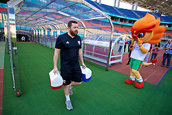 NANNING, CHINA - Tuesday, March 20, 2018: Wales' equipment manager David Griffiths during a training session at the Guangxi Sports Centre ahead of the opening 2018 Gree China Cup International Football Championship match against China. (Pic by David Rawcliffe/Propaganda)
