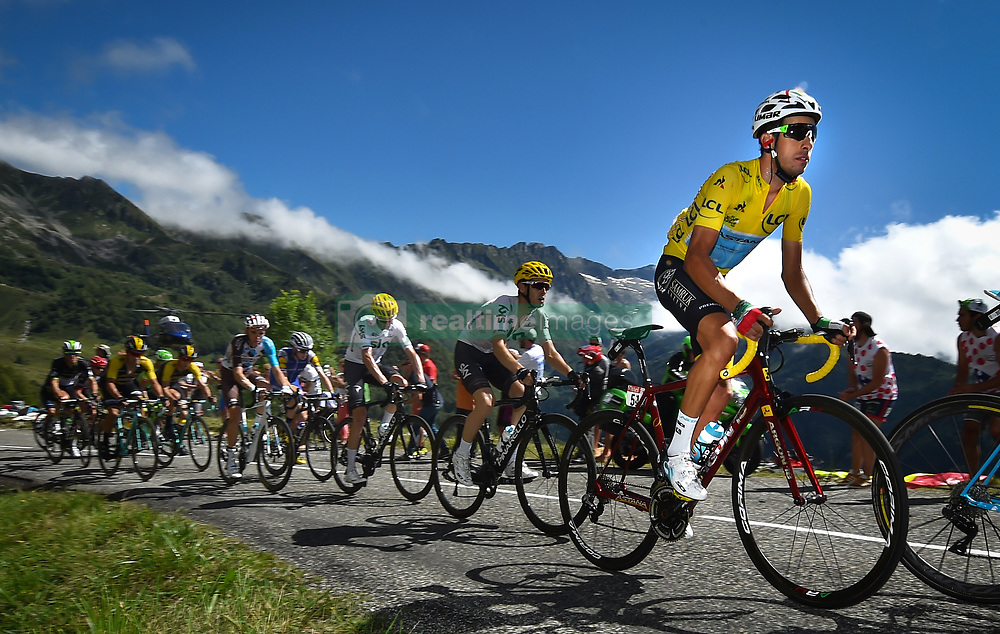 July 14, 2017 - Foix, FRANCE - Italian Fabio Aru of Astana Pro Time wearing the yellow jersey of overal leader pictured in action during the 13th stage of the 104th edition of the Tour de France cycling race, 101km from Saint-Girons to Foix, France, Friday 14 July 2017. This year's Tour de France takes place from July first to July 23rd. BELGA PHOTO DAVID STOCKMAN (Credit Image: © David Stockman/Belga via ZUMA Press)
