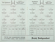 All Ireland Senior Hurling Championship Final,.02.09.1962, 09.02.1962, 2nd September 1962,.Minor Tipperary v Kilkenny, .Senior Wexford v Tipperary, Tipperary 3-10 Wexford 2-11, ..Irish Independent, .Wexford,.P Nolan, T Neville, N O'Donnell, E Colfer, J English, W Rackard (Capt), J Nolan, P Wilson, M Lyng, J O'Brien, P Kehoe, P Lynch, O McGrath, E Wheeler, T Flood, M Bergin, J Mitchell, J Kennedy, J English, H Doyle, ..Tipperary, .D O'Brien, J Doyle, M Maher, K Carey, M O'Gara, A Wall, M Burns, T English, L Devaney, J Doyle (Capt), J McKenna, T Ryan, D Nealon, T Moloughney, S McLoughlin, M Hassett, R Mounsey, T Ryan, L Connolly, R Slevin,
