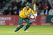 Luke Wood of Nottinghamshire Outlaws batting during the Vitality T20 Blast North Group match between Nottinghamshire County Cricket Club and Worcestershire County Cricket Club at Trent Bridge, West Bridgford, United Kingdon on 18 July 2019.
