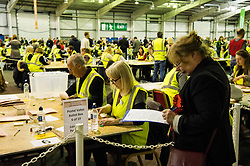 Pictured: <br /> The count has started for the Edinburgh Count as part of the Scottish Election 2016. A long night is anticipated with results predicted to start being announced around 7 AM<br /> <br /> <br /> <br /> Ger Harley | EEm 5 May 2016