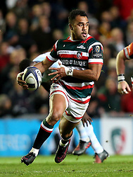 Telusa Veainu of Leicester Tigers runs with the ball - Mandatory by-line: Robbie Stephenson/JMP - 23/10/2016 - RUGBY - Welford Road Stadium - Leicester, England - Leicester Tigers v Racing 92 - European Champions Cup
