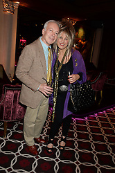 NICKOLAS GRACE and ELIZABETH EMANUEL at a party to celebrate the publication of 'Passion for Life' by Joan Collins held at No41 The Westbury Hotel, Mayfair, London on21st October 2013.