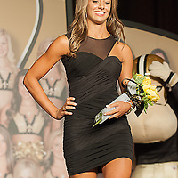 Saintsation, Stephanie of Kenner, Louisiana won the front cover Calendar at the 2012-2013 New Orleans.