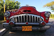 Old American car in Consolación del Sur, Pinar del Rio, Cuba.