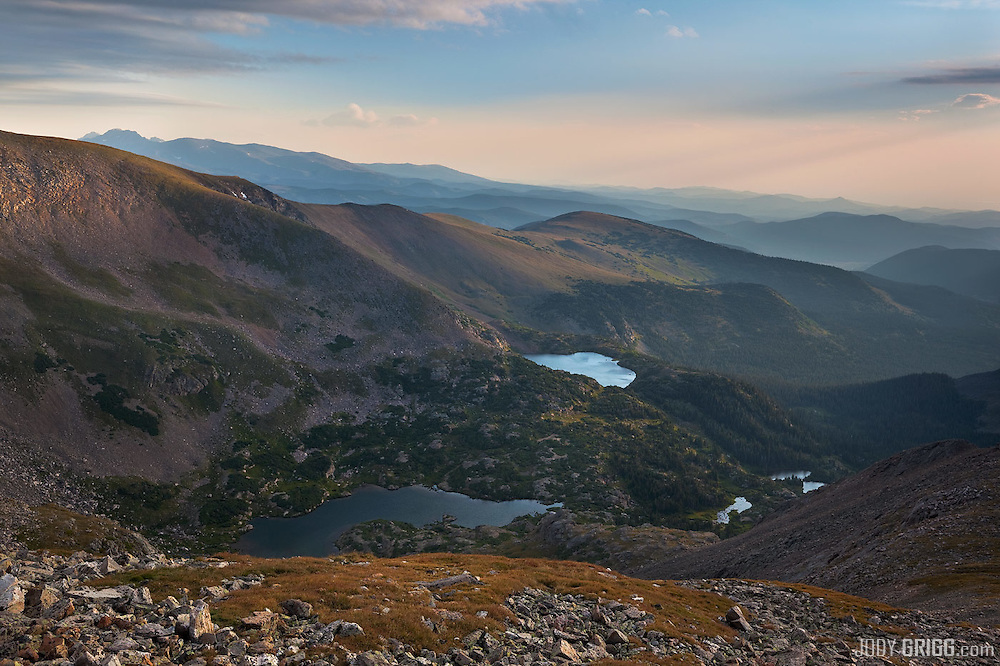 Taken from around 12,000ft+ just below the Continental Divide in the James Peak Wilderness Area along the Denver Front Range. Signs of fall are beginning to show in the tundra at high altitudes. Muted colors are displayed because of all the haze and smoke coming in from western states.