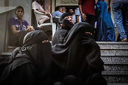 60360149  <br /> Egyptian women mourn over their dead relative in Al-Eman mosque, where 361 protester s bodies lay in lines, in Cairo s Nasr City, Egypt, Thursday Aug. 15, 2013. At least 421 were killed and 3,572 others injured across Egypt in clashes between supporters of ousted President Mohamed Morsi and the security troops, after the latter dispersed Wednesday two pro-Morsi sit-ins in the country, the Health Ministry said on Thursday.<br /> Picture by imago / i-Images<br /> UK ONLY