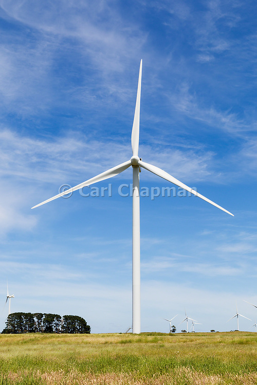 wind turbine from a windfarm in the countryside at MacArthur Wind Farm, Menhamite, Victoria, Australia