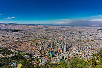 Bogota Skyline cityscape  capital city of Colombia South America