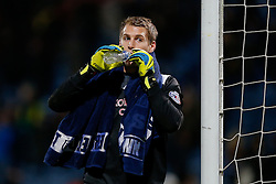 Alex Smithies of Huddersfield Town takes a drink after the match ends in a 1-1 draw - Photo mandatory by-line: Rogan Thomson/JMP - 07966 386802 - 21/10/2014 - SPORT - FOOTBALL - Huddersfield, England - The John Smith's Stadium - Huddersfield Town v Brighton & Hove Albion - Sky Bet Championship.