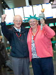 Repro Free: 27 September 2013<br /> &ldquo;39 Big money Game Winners Jet off to New York&rdquo;<br /> Gerry and Marie Lambe from Tallaght two of 39 the National Lottery&rsquo;s Big Game winners and their 39 guests who jetted off to New York City for a six day luxury break. Picture Andres Poveda