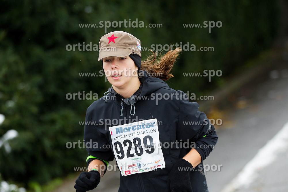 Sanja Harbas running during 17th Ljubljana Marathon 2012 on October 28, 2012 in Ljubljana, Slovenia. (Photo By Vid Ponikvar / Sportida)