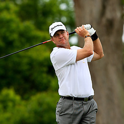 2009 April 26: Scott Verplank of Edmond OK tee's off from the eighth hole during the final round of the Zurich Classic of New Orleans PGA Tour golf tournament played at TPC Louisiana in Avondale, Louisiana.