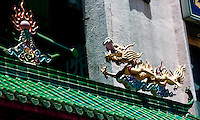 Decorative dragon on the archway entrance to Chinatown in Kuala Lumpur.