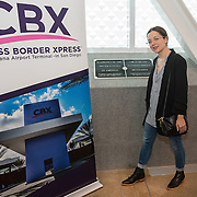 Natalia Lafourcade at the Cross Border Xpress pedestrian bridge from Tijuana to US. She is arriving for Rise Up As One concert
