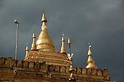 Myanmar Bagan Shwezigon Pagoda temple